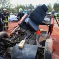 Fixierung des umgeklappten Beifahrersitzes durch die Seilzugratsche Rope-Rachet