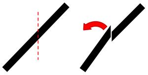 Skizze vertikaler Schnitt in der A-Säule