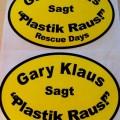 "Aufkleber ""Gary Klaus sagt Plastik raus"""