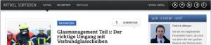 Neues Design: Sortieren der Artikel und Social Media Seiten