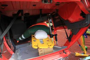 Sitzlehne drücken bei PKW in Dachlage