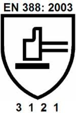 Beispielhaftes Piktogramm nach der EN388